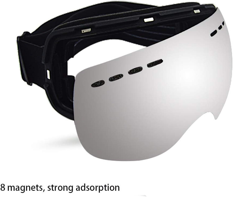 Sunbobo Snowboardbrillen Ski Brillen Magnet Modelle Frameless Breathable Breathable Breathable Doppel Anti-Fog Cola Card Myopie Rahmen Skid Weich B07L9VV33Z  Ausgezeichnete Qualität 49a8c8