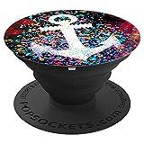 Anker Bunte Farbspritzer Farbkleckse Farbe Spritzer - PopSockets Ausziehbarer Sockel und Griff für Smartphones und Tablets