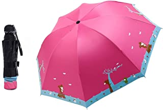 YQRYP Repellent Umbrellas Sun Protection with, Blocking UV Mini Travel Sun Umbrella &rain Umbrella - Light Compact Parasol with UV Protection for Umbrella Windproof Umbrella, Golf Umbrella