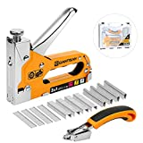GIANTISAN Staple Gun, 3 In 1 Heavy Duty Staple Gun Kit With Remover and 3000 Staples for Upholstery, DIY, Fixing Material, Decoration, Carpentry, Furniture