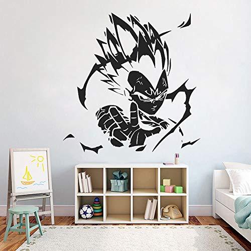 Dibujos animados Anime Tatuajes de pared Dragon Ball (DB) Vegeta Etiqueta de la pared Niños Dormitorio Decoración infantil Vinilo Mural extraíble