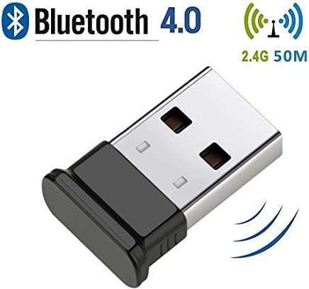 HANPURE Bluetooth USB Dongle, Bluetooth Adapter 4.0, Plug and Play Wireless Dongle for PC, Keyboard, Mouse, Headset, Supports Windows 10/8.1/8/7/XP/Vista