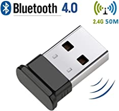 HANPURE Bluetooth Adapter, Bluetooth Dongle 4.0, Bluetooth USB Dongle Plug and Play Wireless Dongle for PC, Keyboard, Mouse, Headset, Supports Windows 10/8.1/8/7/XP/Vista
