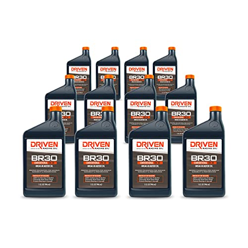 Driven Racing Oil BR30 Break In Oil SAE 5w-30 Motor Oil (12 Quarts) High Zinc Formula Dyno Pulls, Night of Racing, up to 400 miles on the street.