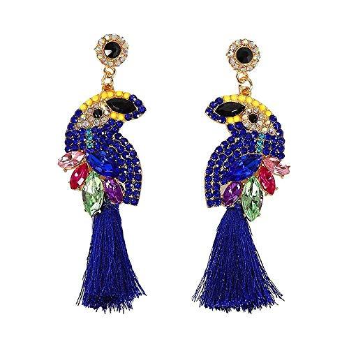 ZIXIYAWEI Ohrringe Für Damen Marine Dunkelblaue Farbe Boho Ethnisch Trendy Vintage Mode Punk Niedliche Ohrringe Frauen Fabrik Schmuck-24