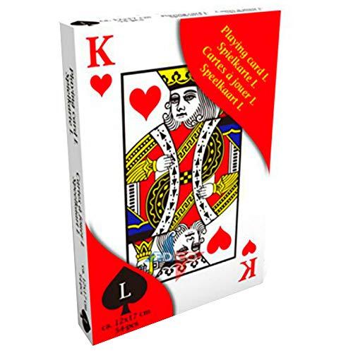 TronicXL Riesen große Spielkarten Senioren Deko Poker Casino Kartenspiel Gross