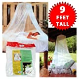 Trademark Mosquito Repelling Net for Beds, Hammocks, and Cribs - Insect Protection Hanging Canopy for Camping with Large Screen Opening by Lavish Home - 75-31215