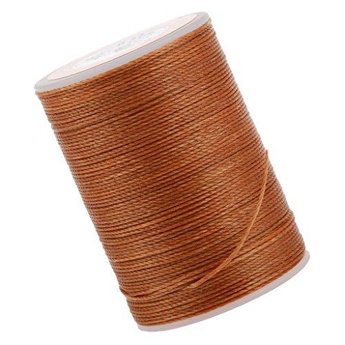 chiwanji 0,55/0,6 Mm de Cuero de Poliéster Encerado Línea Arte de Costura Del Hilo de Cera de La Cuerda (Negro) - Marrón Claro, 0.55mm