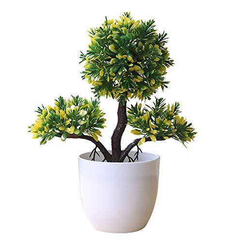 Dosige Simulation bonsaï Petit Arbre décoration de la Maison Fleur Plante en Pot Herbe Balle décoration créative Mini décoration de la Maison Size 20 * 20cm (A)