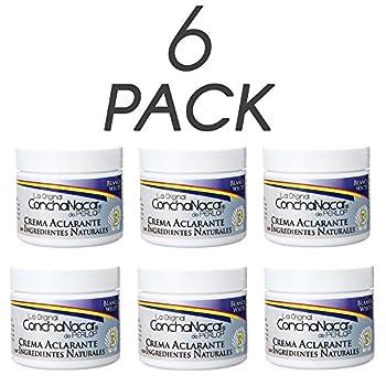 ConchaNacar De Perlop Brightening Mask #3 Facial Lightener and Cleanser Natural Skin Exfoliating and Invigorating Cream 2 Oz / 56 g Pack of 6