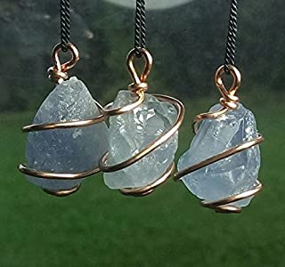 celestite stone necklace