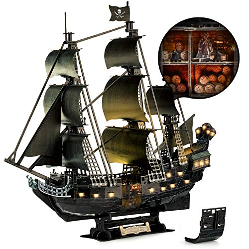 CubicFun 3D Puzzle for Adults Moveable LED Pirate...