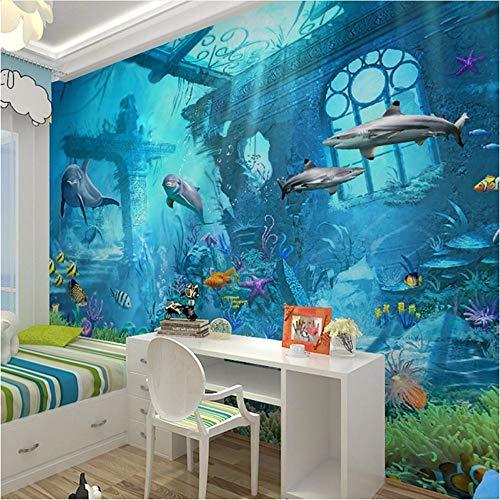 Ytdzsw 3D Geprägte Sea World Fisch Fototapeten Wandbilder Tapeten Für Kinder Schlafzimmer Wohnzimmer Wand Kunst Dekor Minion Tapete-250X175Cm