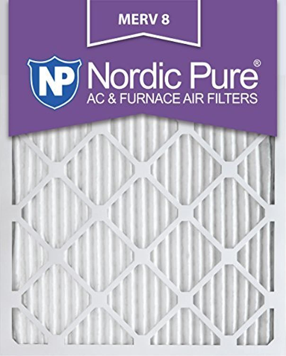 Nordic Pure 16x25x1M8-2 MERV 8 AC Furnace Filter 16x25x1 Pleated Merv 8 AC Furnace Filters Qty 2 [並行輸入品]