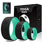 Seven Sparta Yoga Wheel Set 3 Pack Yoga Back Circle Roller Wheel for Stretching, Back Pain, Backbends and Bodyweight Exercices,13Inch, 10.5Inch, 6.5Inch(Black&Green)