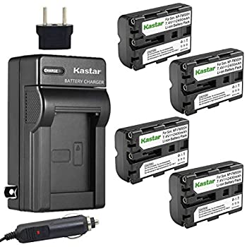 Kastar NP-FM500H Battery  4-Pack  and Charger Kit for Sony DSLR-A100 A200 A300 A350 A450 A500 A550 A560 A580 A700 A850 A900 Alpha SLT A57 A58 A65 A65V A77 A77V A77 II A77M2 A99 A99V CLM-V55 Cameras