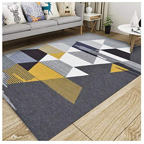 YCMXMY Rug Cozy Shag Collection,Pile Shag Rugs Linen Geometry Carpet Contemporary Living & Bedroom,Soft Shaggy Area Rug 180X280Cm(6Ft X 9Ft)