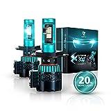 Glowteck LED Headlight Bulbs Conversion Kit - H4 (9003) Cree XHP50...