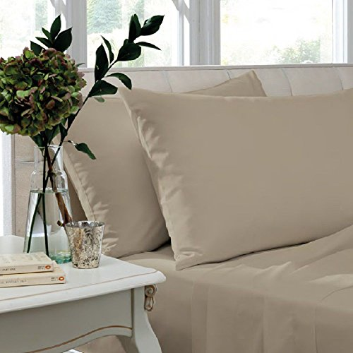 Catherine Lansfield Easy Iron Percale Standard Pillowcase Pair Natural