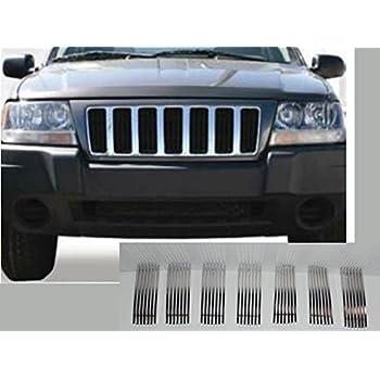 APS Compatible with 1997-2006 Jeep Wrangler Main Upper Vertical Black Billet Grille Insert S18-E29456J