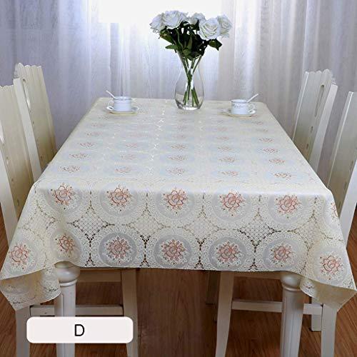 XHNXHN Mantel rectangular de PVC, resistente al agua, resistente al aceite, para mesa de café, mesa de comedor (D,200 x 137 cm)