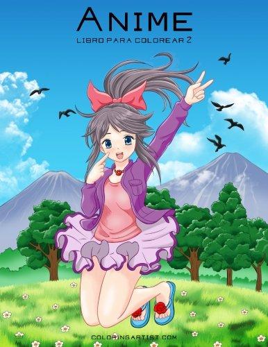 Anime libro para colorear 2: Volume 2