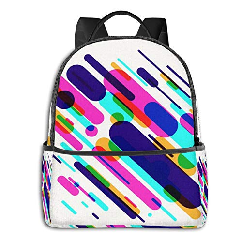 School Backpack for Men Women Teenager Daypack Fit 15.6 Inch Laptop Satchels Rucksack, Made Various Colored Casual Travel Backpack