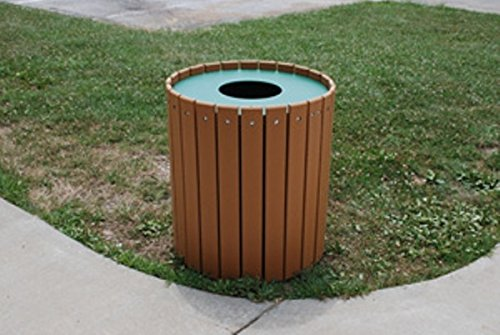 For Sale! Jayhawk Plastics Gallon Outdoor Trashcan Made With Twenty-Four 1 X 4 Recycled Plastic Sl...