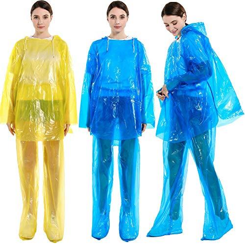 Fanville Mannen Vrouwen Waterdichte Jassen Hooded Regenjas Regenjas Poncho Regenkleding Outdoor Lichtgewicht Lange Regenkleding Regenjas