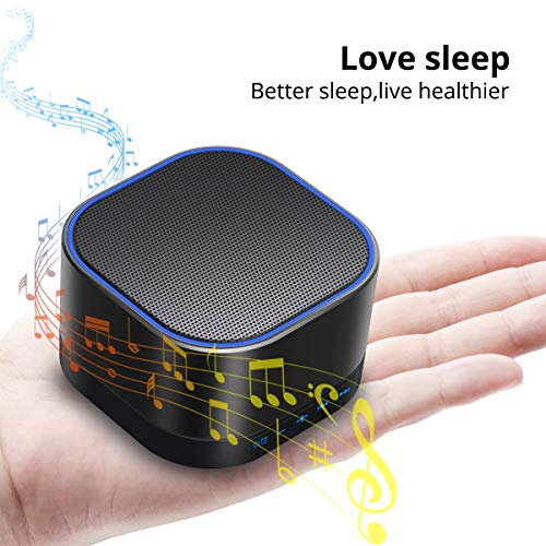 Magicteam Sound Machines White Noise Machine with 20 Non Looping Natural Soothing Sounds and Memory Function 32 Levels of Volume Powered by AC or USB and Sleep Sound Timer Therapy for Baby Kids Adults
