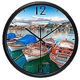 LIMN Reloj de Pared Hot Brand River Boat Reloj de Pared para Sala...