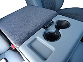 Car Console Covers Plus Made in USA Center Armrest Console Cover Designed for Ford F150 F250 Trucks 2014-2019 Your Console Should Match Photo Shown and Lid Must Open Dark Gray