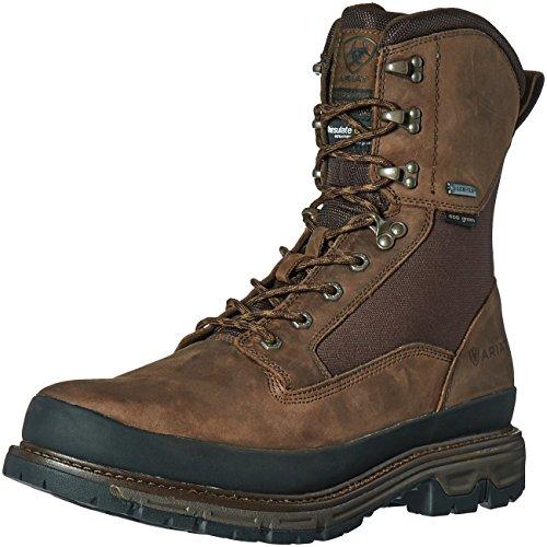 "Ariat Men's Conquest Round Toe 8"" GTX 400g Hunting Boot, Dark Brown, 8 D US"