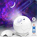 Laser Star Projector,Nebula Galaxy Projector with Moon,Soothing Aurora Effects,Bluetooth,Sound Activated,LED Night Light,Star Galaxy Light Projector for Bedroom,Party,Christmas Projector Lights Decor