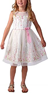 Jona Michelle Girl's Special Occasion Dress (Buttercream Emb, 2T)