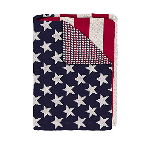 Elma Banju Patriotic US American Flag Throw Blanket, 50' X 60', Multi 60x80IN