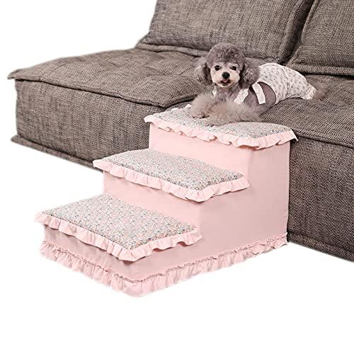 Mascotas Cómodas Adecuadas para Gatos Y Perros, Escaleras Ligeras para Mascotas, Camas Elevadas Y Escalones De Sofá, Colchas Lavables A Máquina,M