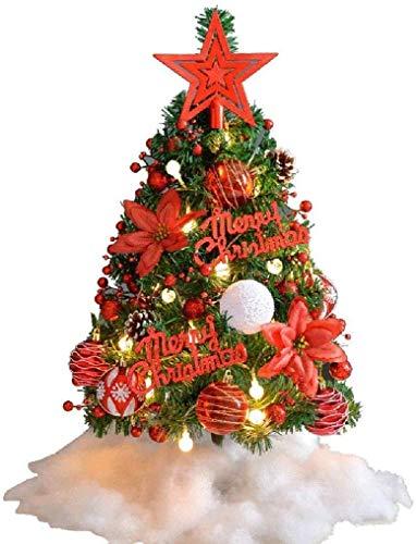 DINEGG Tabletop Weihnachtsbaum, Künstliche Mini Weihnachten Kiefer MIT LED-SCHNUR-Lichter und Verzierungen, WeihnachtsDekoration-Baum-Dekor (Color: B), Farbe: B (Color: B), Color: B QQQNE (Color : A)