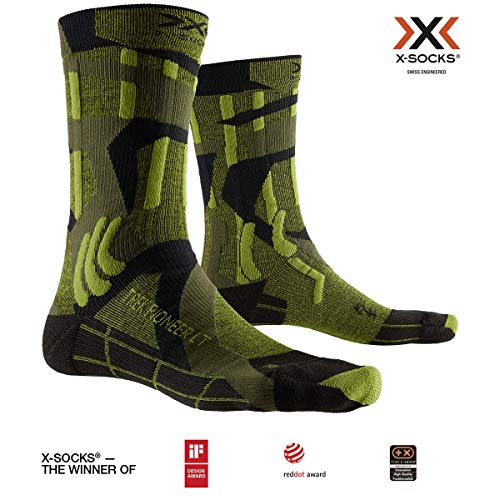 X-Socks Trek Pioneer Light Socks, Unisex – Adulto, Forest Green/Modern Camo, 35-38