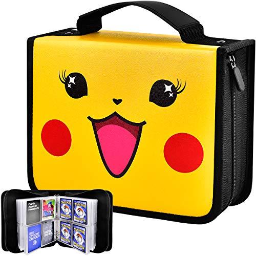 Kaartmap - kaarthouder boek draagtas map voor Pokémon verzamelkaarten, dragen hoes houder album houdt 600 kaarten. Album bewaarhoes voor PM TCG met 75 premium 8-pocket paginas