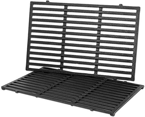 QuliMetal 7638 17.5 Inches Cooking Grates for Weber Spirit 300 Series, Spirit 700, Genesis Silver Gold Platinum B/C, Genesis 1000-3500, Weber 900 Gas Grills, Case Iron Grill Grate for Weber 7639 7525