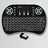 Conbre AirPAD i8 Mini Wireless Keyboard with Mousepad | Inbuilt Backlight | Supports All Smart TV, Android TV Box, Smart Phone, iOS and Raspberry-pi