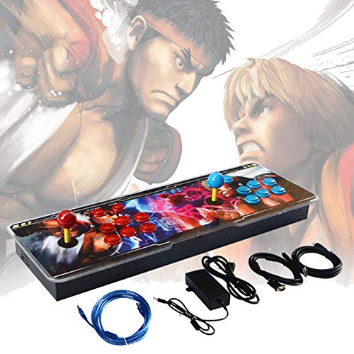 Retro HD Games, Fighting Gaming Machine Arcade Fight Stick Joystick Support Extended TF Card & USB Disk to Enjoy More Games PC/Laptop/TV/PS, Home Game Console,Black b