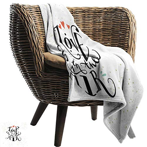 ZSUO picknickdeken Liefde, Zijn liefde Oclock Mechanische Klok Tekst met Pijl Motief Vintage Illustratie Koraal Zwart Wit Gezellig en Duurzaam Stof-Machine Wasbaar