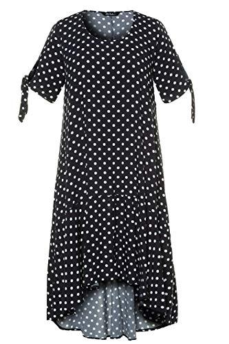 Ulla Popken Damen große Größen Strandkleid schwarz/Weiss 62 727722 90-62