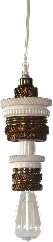 Karman mek, lampada a sospensione, in ceramica bianca e bronzo SE107-2R