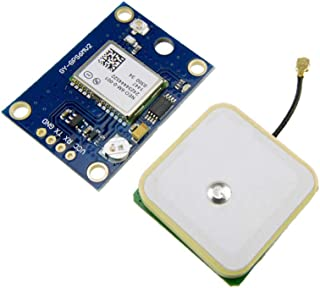 Comidox 1PCS GY-GPS6MV1 NEO-6M GPS Module Flight Control Module with EEPROM APM2.5 Ceramic Antenna 3V-5V 9600 Baud Rate