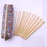 Suéter multifuncional para el hogar, herramientas de tejer a mano de ganchillo, 12 piezas/juego, gancho de ganchillo redondo de color primario