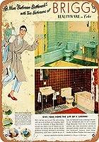 なまけ者雑貨屋[Brigg's Bathroom Fixtures]メタル ブリキ 看板 アンティーク 壁飾
