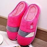 Zapatillas Casa Hombre Mujer Invierno Zapatillas Mujer Zapatillas De Colores Mezclados para Mujer Zapatillas De Casa Zapatillas De Estar Unisex Zapatos Casuales A Rayas Mujer-Pink_7
